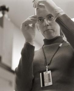 Photo of Kristen Buchanan in her lab