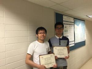 Poster award-ICMM 2106-Tao Liu(L) and Jinjun (R)